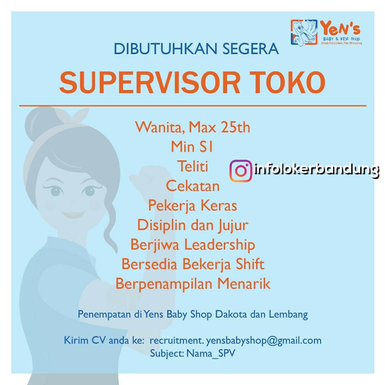Lowongan Kerja Yens Baby & Kids Shop Bandung Januari 2018