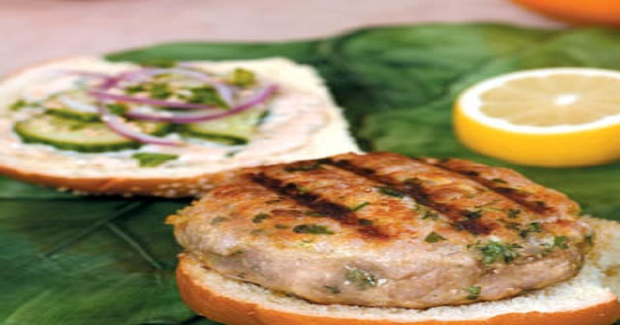 Thai Tuna Burgers With Ginger-Lemon Mayonnaise Recipe