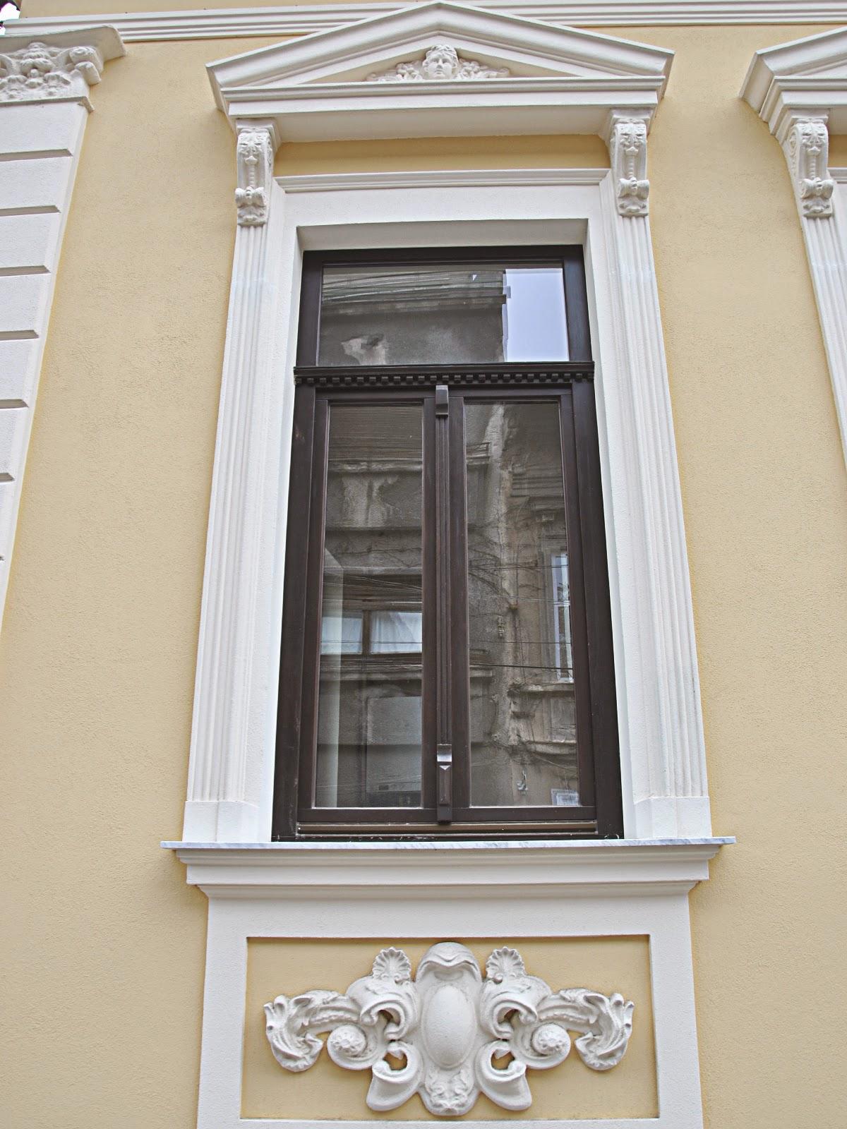 Ferestre Exterior cu Profile Polistiren cu Fronton, Stucaturi Exterior, fatade case