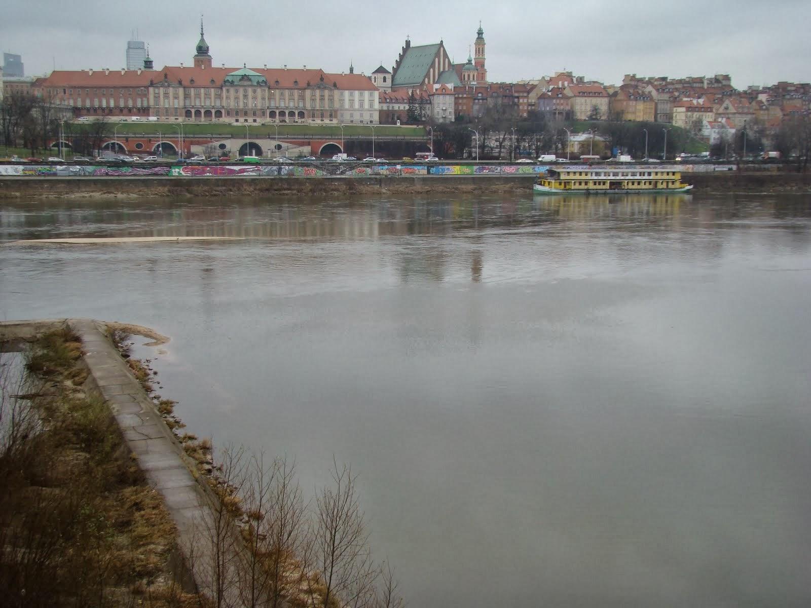 Rio Vístula em Varsóvia