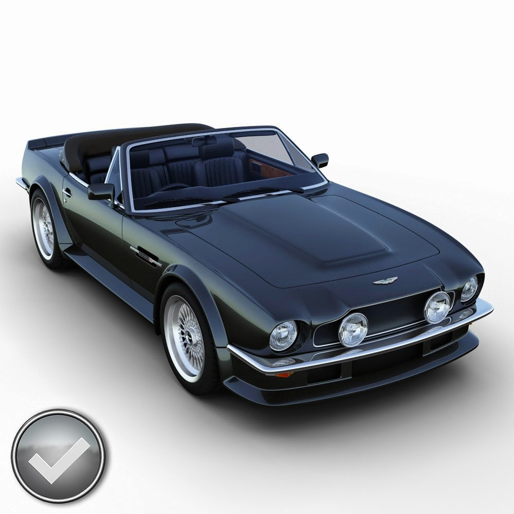 3D.ART.Reactor: 3D Model Aston Martin V8 Vantage Volante