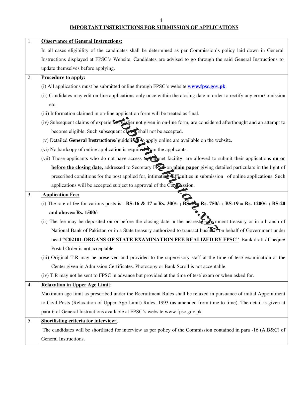 FPSC Jobs October 2018 Advertisement 5/5