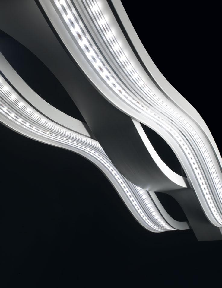 Lampadari moderni e di design lampadari moderni a led for Lampadario a led