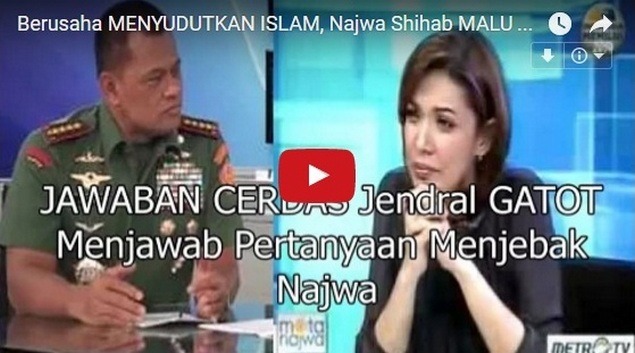 Bela Umat Islam Aksi 411, Panglima TNI Jenderal Gatot Skakmat Mata Najwa