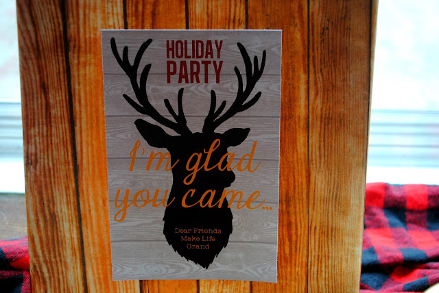 Custom holiday welcome sign at Fizzy Party fall party