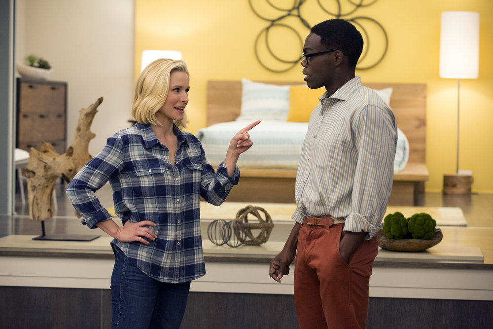 Eleanor y Chidi en 'The Good Place'