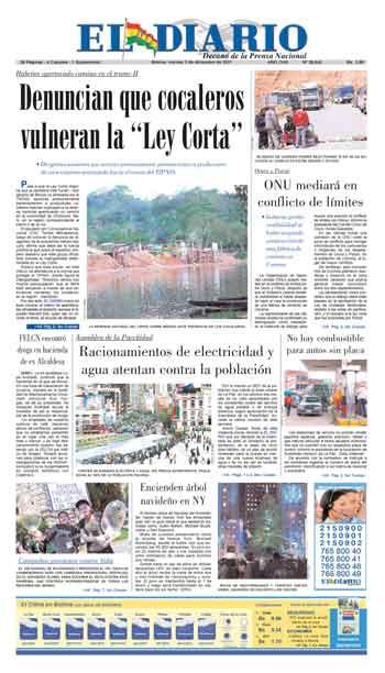 El Diario: Decano de la Prensa Nacional