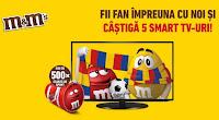 """Castiga un televizor Smart 55"""" Samsung in valoare de 1200 EURO sau 500 de genti sport M&M's"""