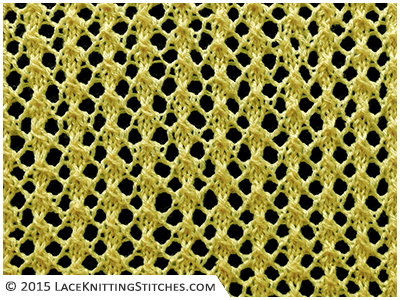 #LACE KNITTING No.18 | The Miniature Leaf is an easy lace stitch. A super-simple repeat is easy and quick to memorize, even for beginners!