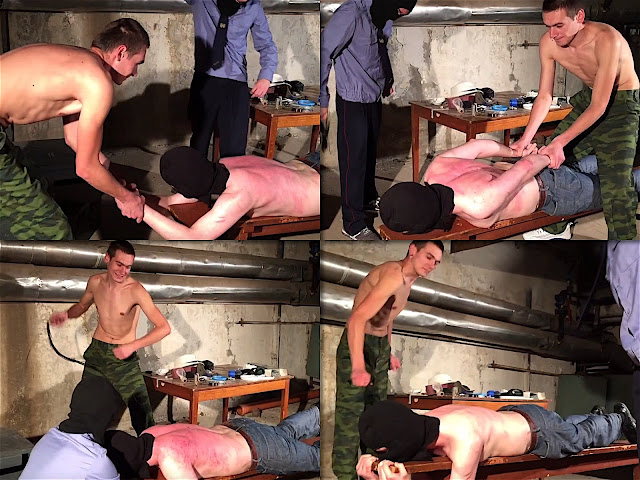 RusStraightGuys - Police prison – Whipping of defendant Afanasiy 26 y.o. by two officers