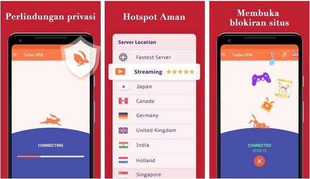 Turbo VPN APK v2.8.4 - Download VPN Gratis Tanpa Terbatas, Hotspot Aman Terbaru 2019