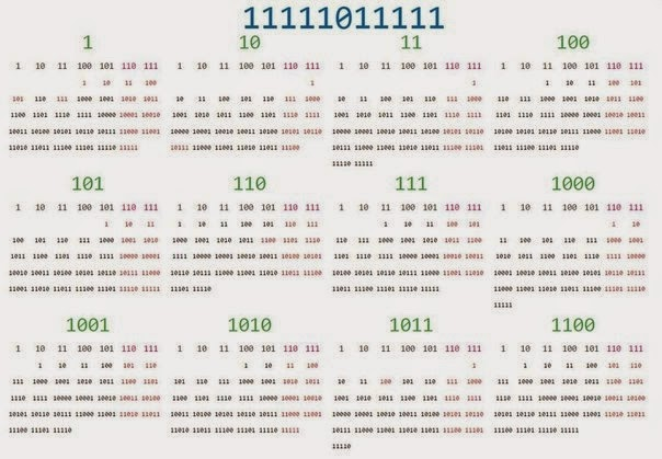 Calendar for 2015 in the binary system
