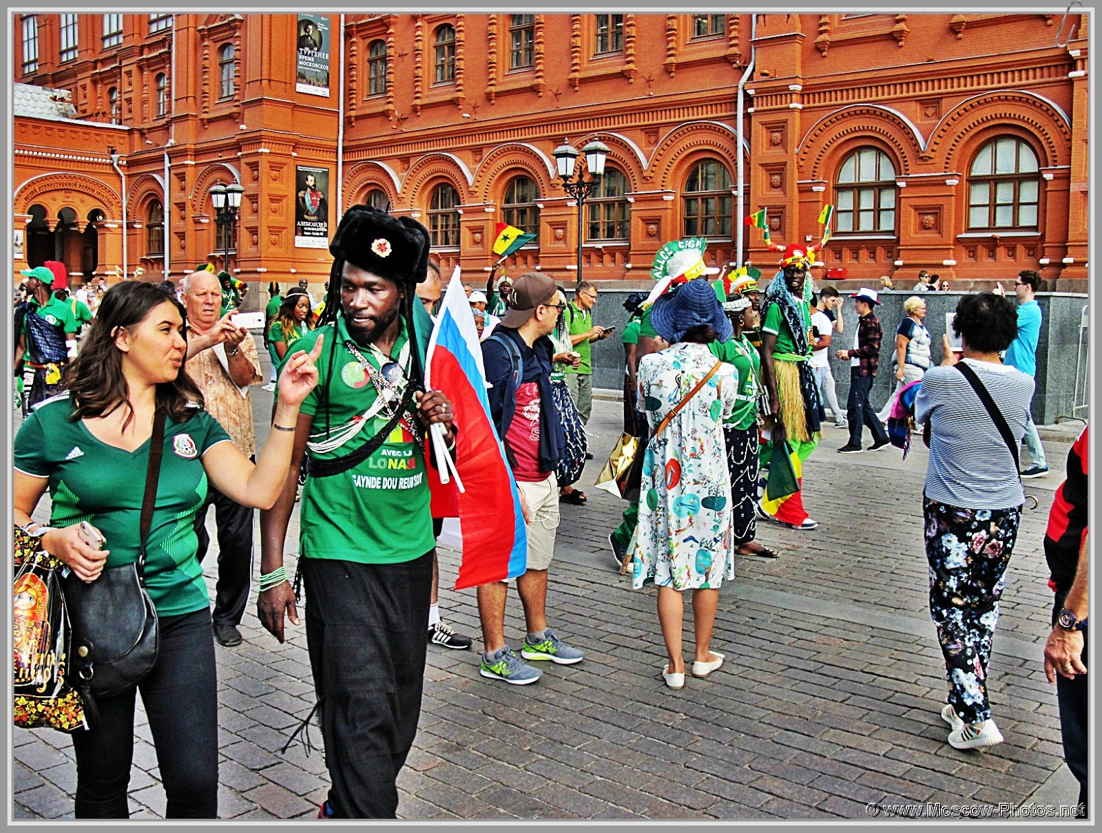 Football fans in Moscow during the 2018 FIFA World Cup