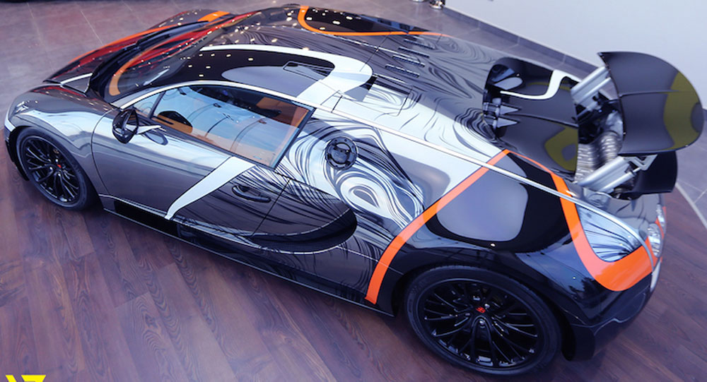 absurdly wrapped bugatti veyron super sport for sale in saudi arabia. Black Bedroom Furniture Sets. Home Design Ideas