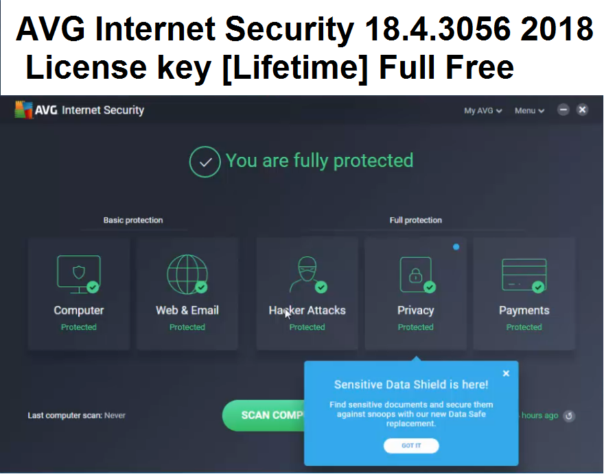 avg internet security 2018 licence keys