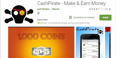 cash pirate aplikasi penghasil voucher google play store