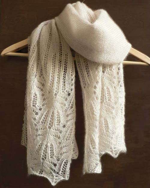 Frost Flower Lace Shawl - Free Pattern