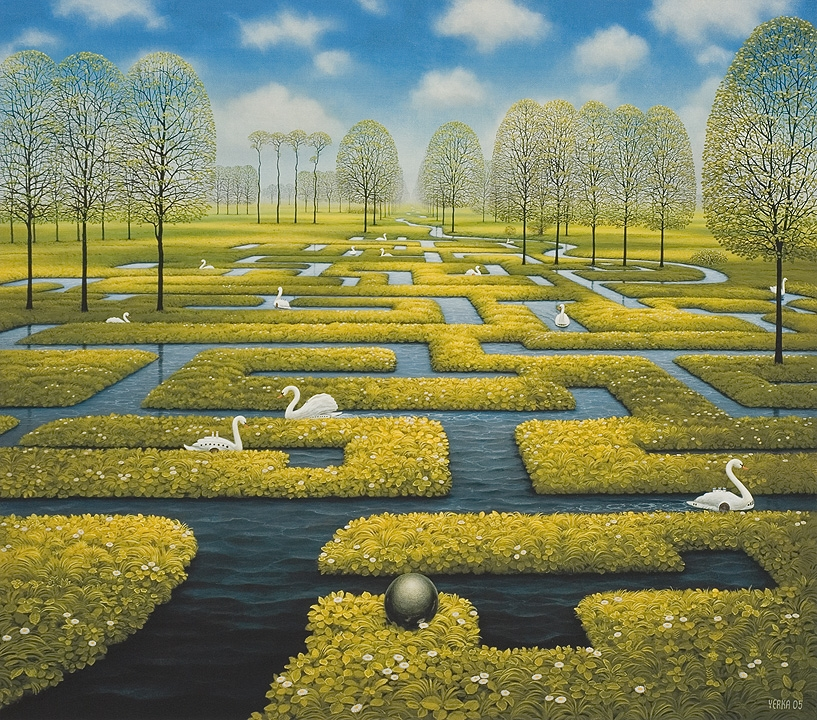 06-Spring-Labyrinth-Jacek-Yerka-Surrealism-in-Dreamlike-Oil-Paintings-www-designstack-co