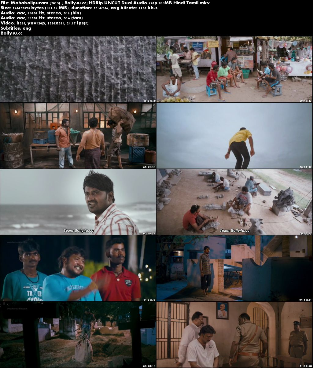 Mahabalipuram 2015 HDRip 850MB UNCUT Hindi Dual Audio 720p ESub Download