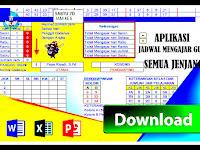 Aplikasi Jadwal Mengajar Guru Dilengkapi Keterangan Mapel