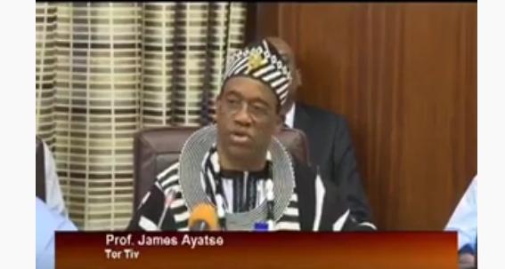 VIDEO: WHAT TOR TIV PROF JAMES AYATSE TOLD PRESIDENT BUHARI