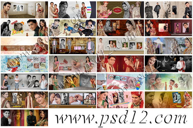 10x28 Mix Wedding Photo Album Templates Vol-1