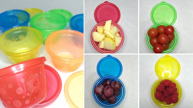 Set recipientes Nuby e ideas snack peques