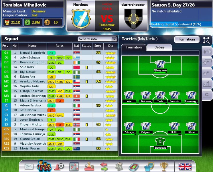 Top Eleven Menager