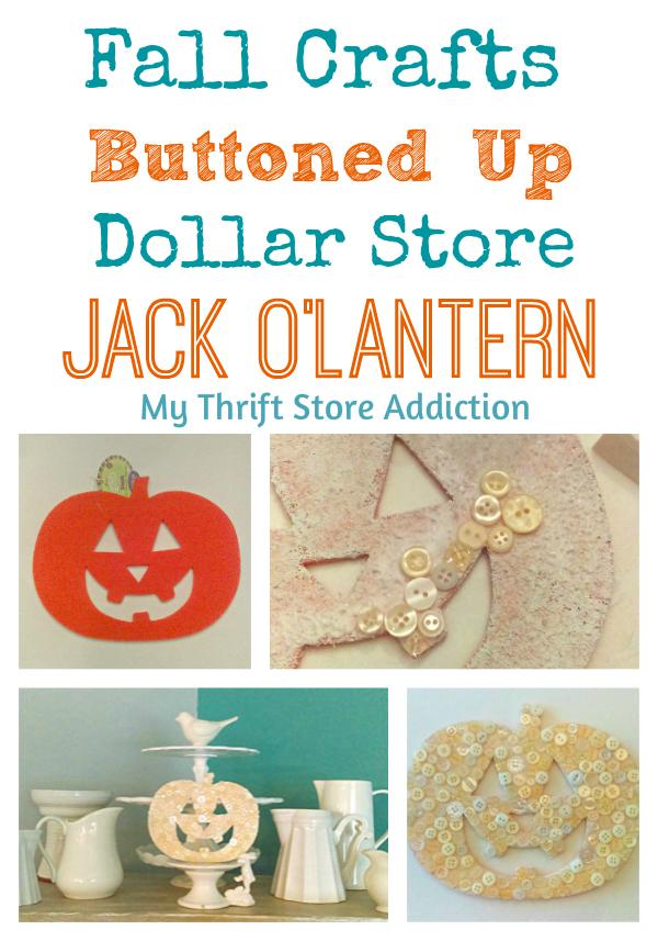 Buttoned up jack o'lantern craft