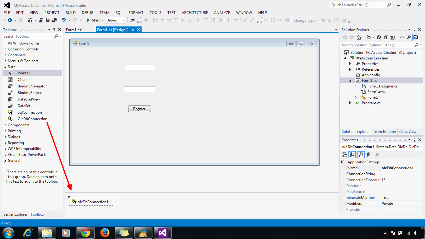 Step By Step MsAccess DataBase Connection To Visual Studio