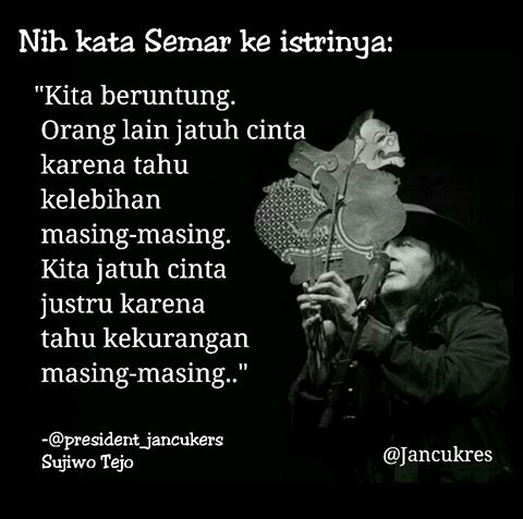 Kata Kata Sujiwo Tejo Bahasa Jawa Tentang Cinta