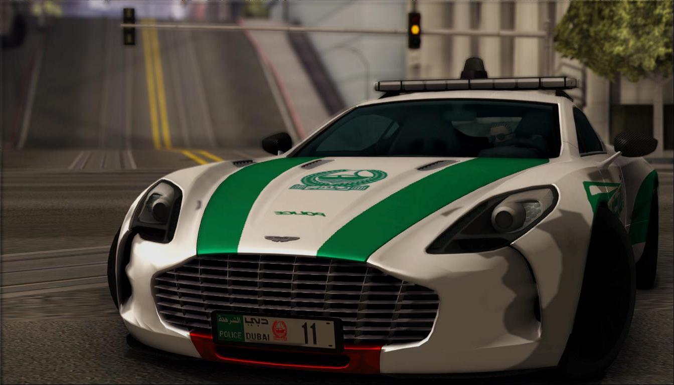 Popo Spot Exclusive Rel 2012 Aston Martin One 77 Dubai Police
