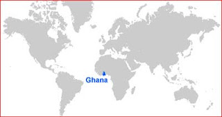 Gambar Peta letak Ghana