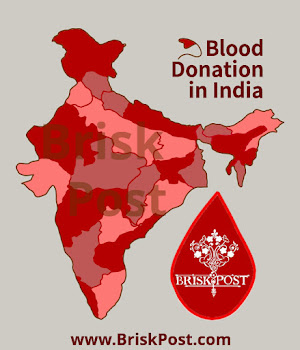 National Voluntary Blood Donation Day in India: Illustration of Red-pink map of India