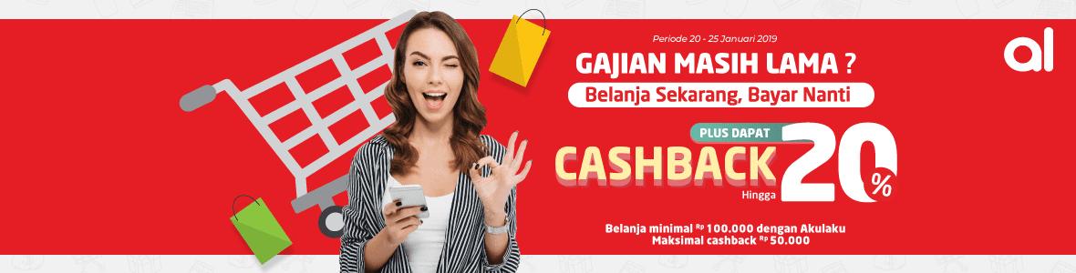 #Alfacart - Promo Cashback 20% Pakai Akulaku Pay Min Belanja 100K (s.d 25 Jan 2019)
