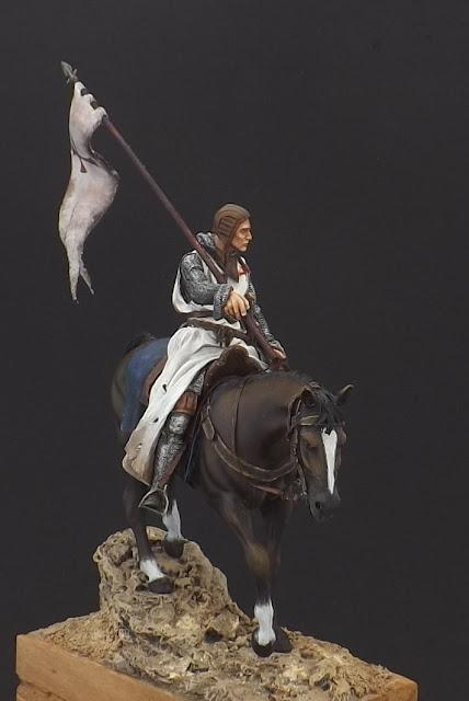 Templar Knight on Horseback c.XI - Andrea Miniatures 90mm Templar%2B2