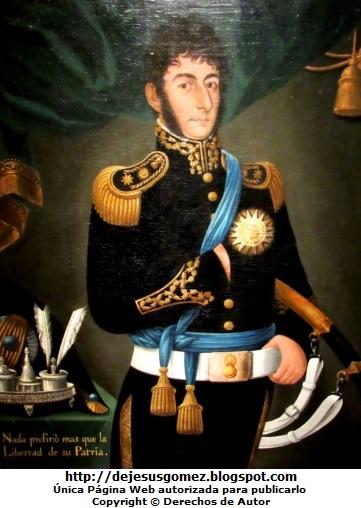 Retrato de José de San Martín en 1820. Foto de José de San Martín tomada por Jesus Gómez