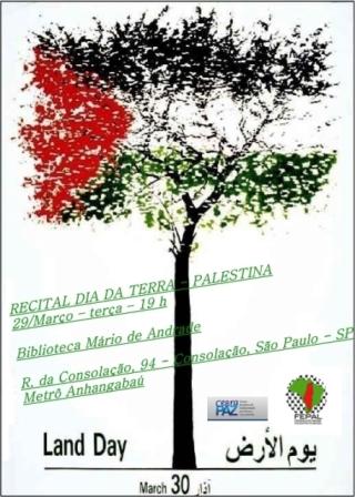 Recital Dia da Terra - Palestina