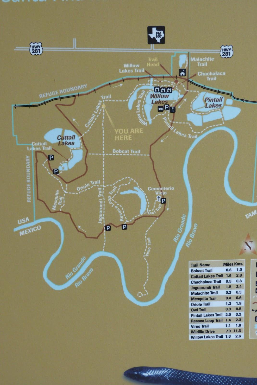 the layout of santa ana nwr