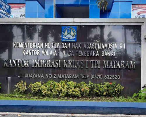 Alamat Telepon Kantor Imigrasi Kelas I TPI Mataram - NTB