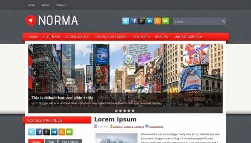 Template Blog