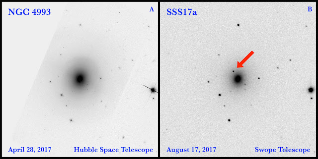 explosão das estrelas de neutrons na galáxia NGC 4993 - D.A. Coulter, et al.