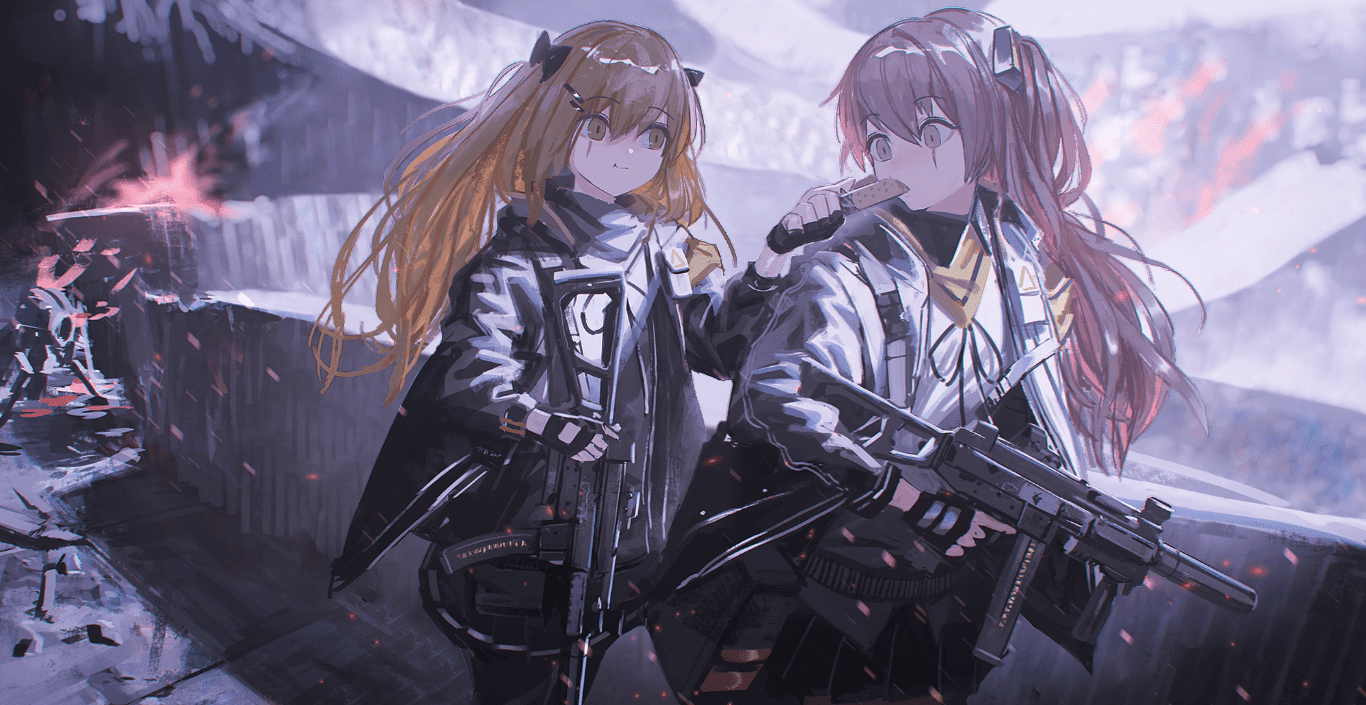 UMP 9 & UMP 45 [Girls' Frontline]【少女前線】 [Wallpaper Engine Anime]