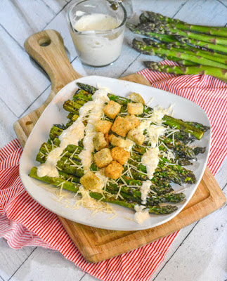 Grilling Bucket List - Grilled Caesar Asparagus #Celebrate365