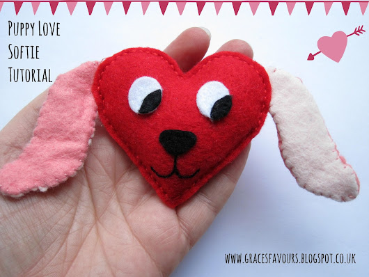 Sew A Softie Tutorial for Valentine's Day - Puppy Love