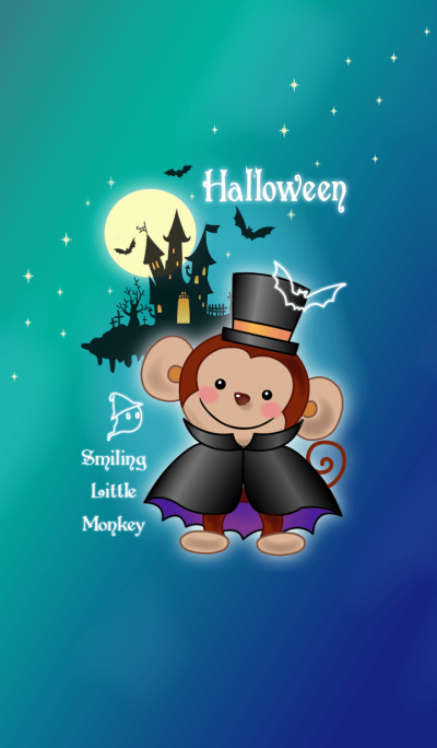 Smiling little monkey - halloween!