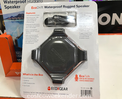 Costco 1187220 - EcoXGear EcoDrift Waterproof Rugged Speaker: strong and great for travel