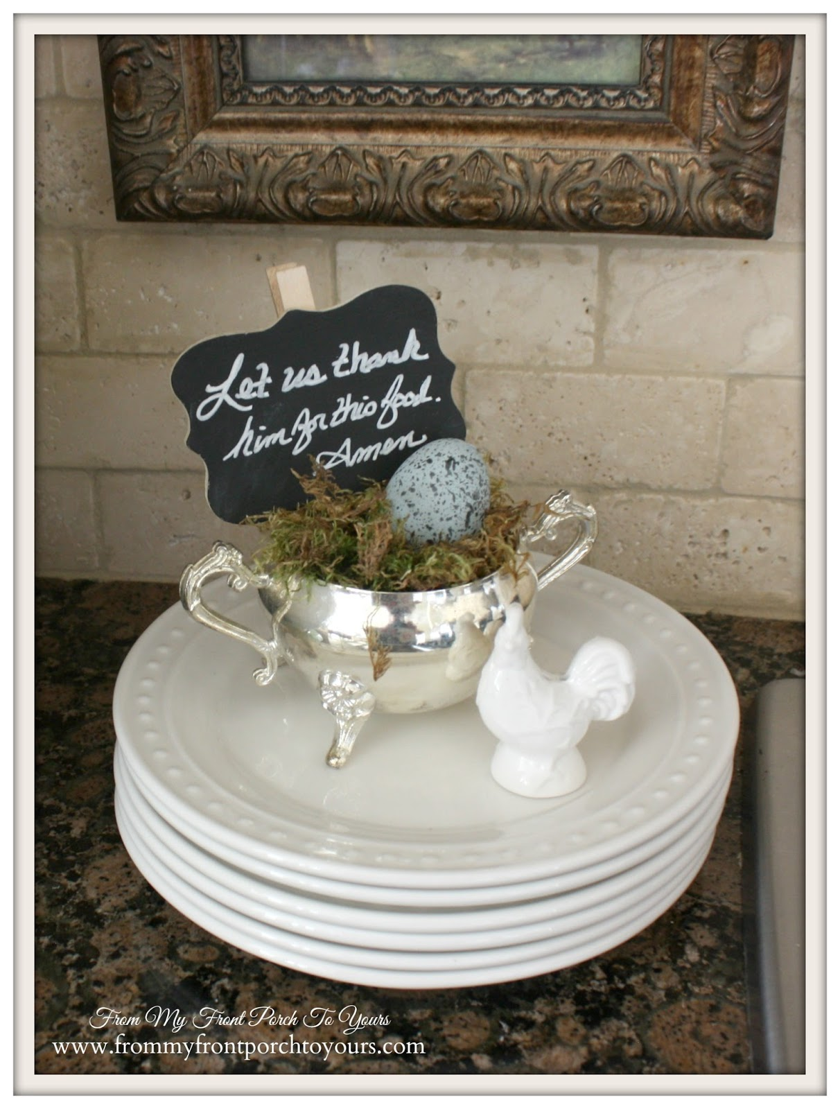 French Farmhouse Kitchen-Kitceh Vignette- From My Front Porch To Yours