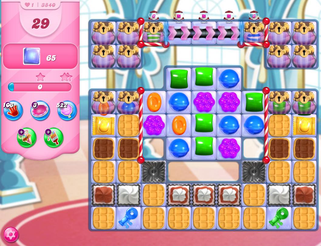 Candy Crush Saga level 3840
