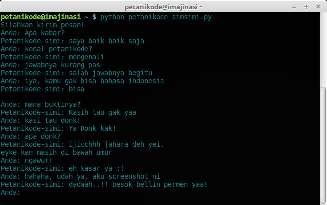 Aplikasi Chat Simsimi Berbasis CLI dengan Python
